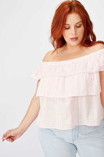 Curve Sunshine Off The Shoulder Top, ICY FROZE