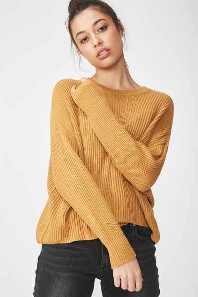 Archy Cropped Pullover, SPRUCE YELLOW