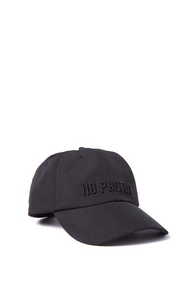 Essential Cap, BLACK SATIN/NO PHOTOS