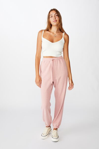 High Waisted Trackpant, BRIDAL ROSE NEP
