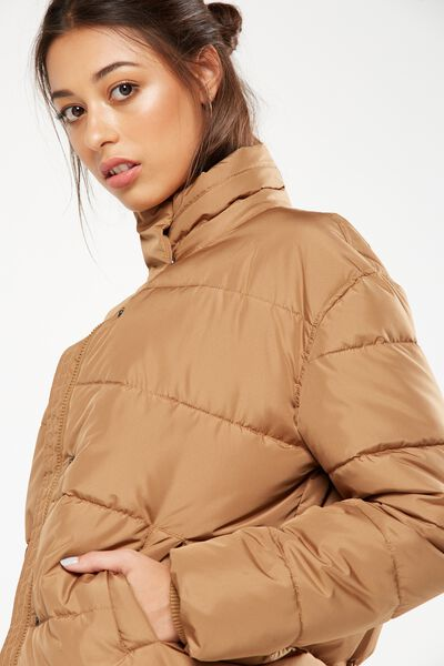 Harriet Puffer Jacket, CINNAMON