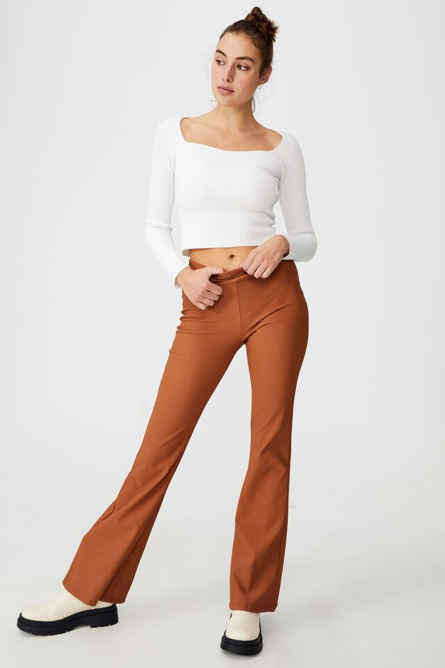 Ribbed Fashion Detail Long Sleeve, CHALK WHITE