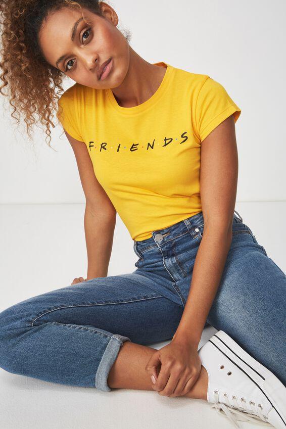 Tbar Rachael Graphic Tee Shirt, LCN FRIENDS LOGO/INCA GOLD