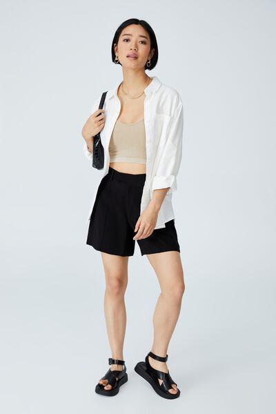 Petite Darcy Tailored Short, BLACK