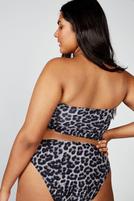 Curve Longline Bandeau Bikini Top, ANIMAL