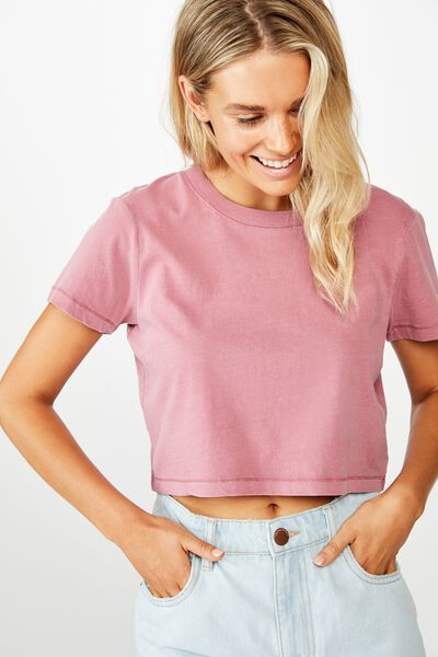 The One Baby Tee, WASHED ROSE WINE