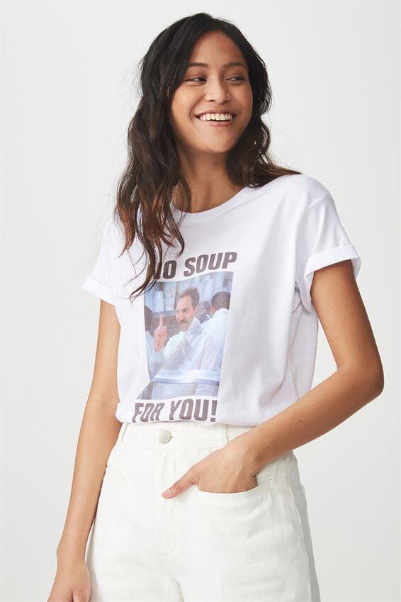 Seinfeld Graphic T Shirt, LCN SEINFELD NO SOUP/WHITE