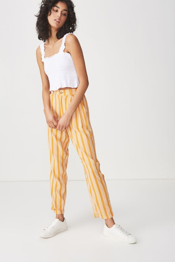 Louise Shirred Co Ord Top, WHITE