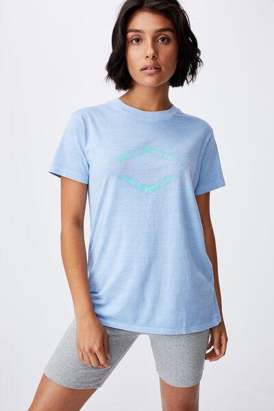 Classic Slogan T Shirt, PARADISE/AUTHENTIC BLUE