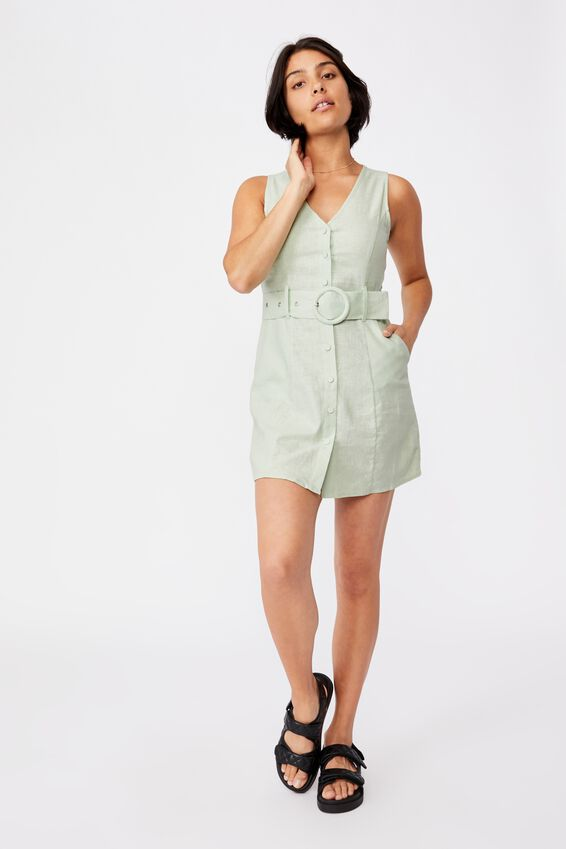 Woven Valerie Vest Mini Dress, SPRING MINT