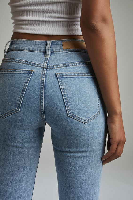 Mid Rise Cropped Skinny Jean, FLYNN BLUE