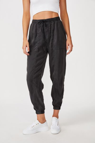 Millie Light Weight Chino, WASHED BLACK