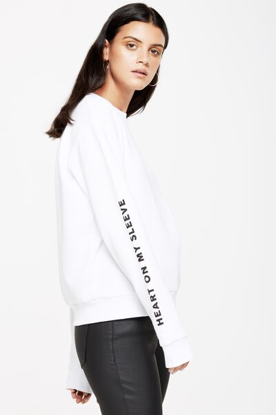 Ferguson Graphic Crew Sweater, PERFECTLY IMPERFECT/WHITE