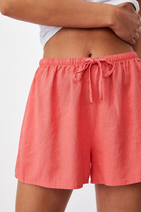 Cali Pull On Short, SUMMER CORAL