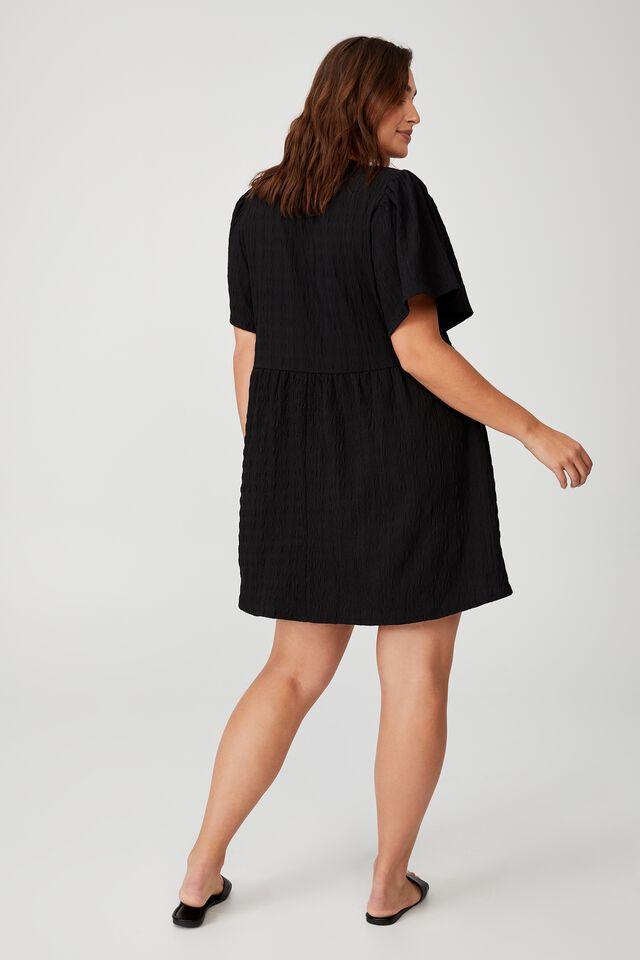 Curve Tie Up Woven Dress, LENNI DITSY BLACK
