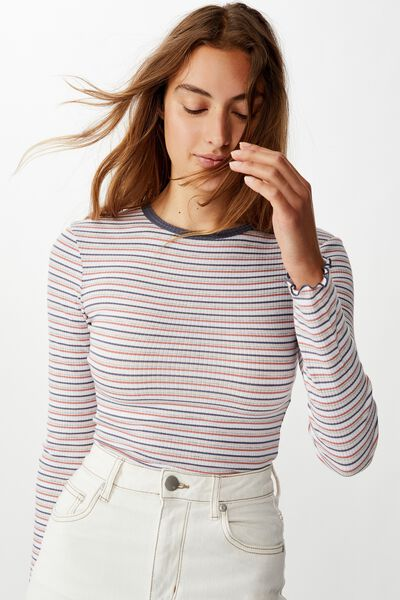 The Sister Long Sleeve Top, RICKARD STRIPE MULTI