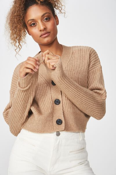 Luxe Cropped Cardi, AMPHORA