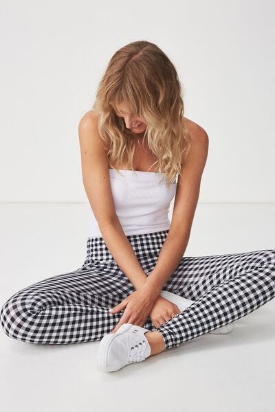 Tranquil Legging, VERONICA CHECK BLACK/WHITE