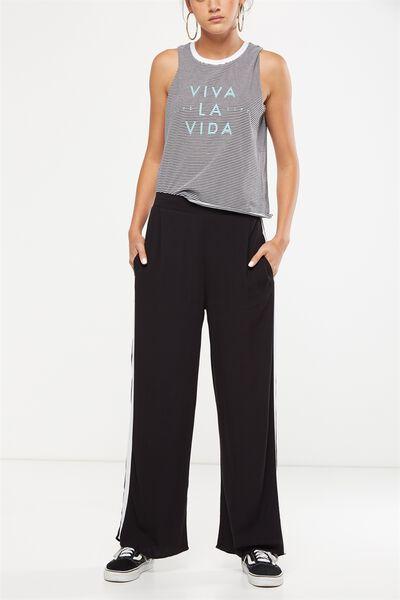 Wide Leg Pant 2, BLACK