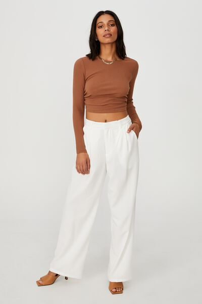 Jordan Oversized Pleat Pant, CHALK WHITE