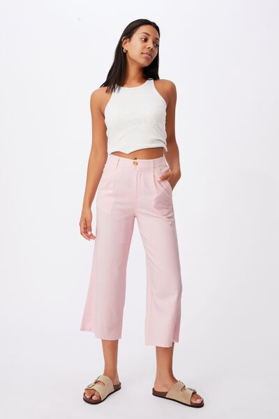 Cindy Wide Leg Pant, SWEETHEART PINK