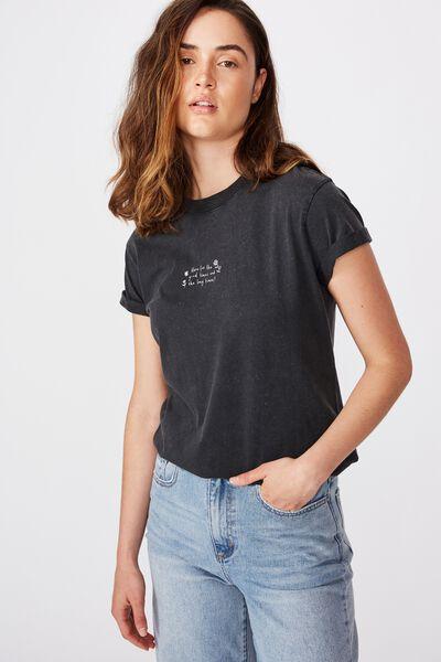 Classic Slogan T Shirt, GOOD TIMES/BLACK