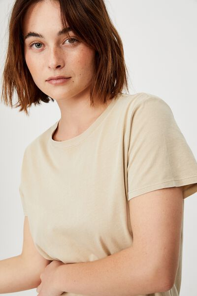 The One Crew Tee, WASHED LINEN TAUPE