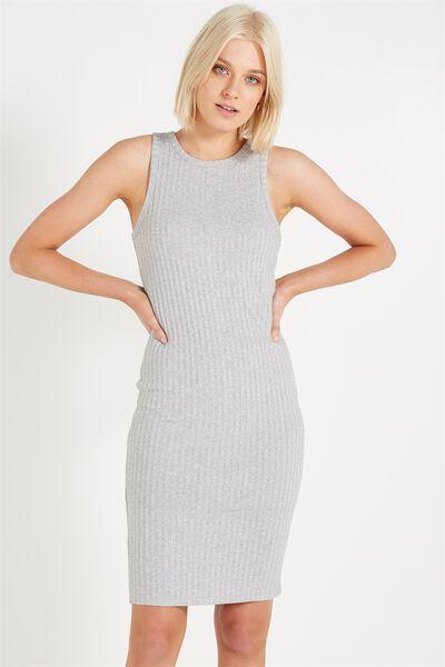Lena Midi Dress, GREY MARLE TWIST