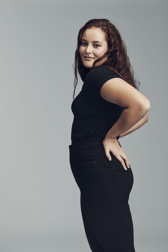 Curve Adriana High Skinny Jean, BLACK