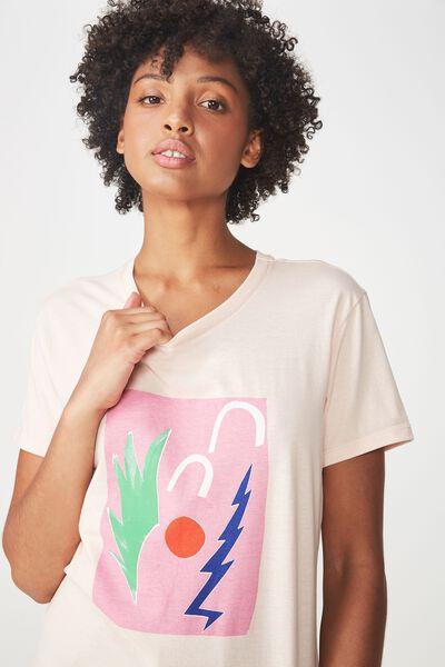 Classic Arts T Shirt, PALMIER/PINK SAND