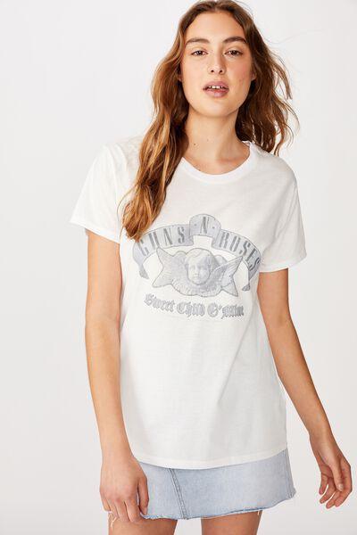 Classic Guns N Roses T Shirt, LCN BR GUNS N ROSES SWEET CHILD O MINE/WHITE