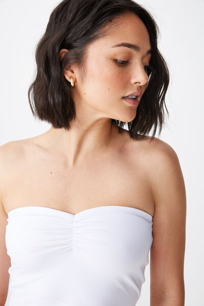 Viola Tube Top, WHITE
