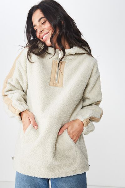 Oversize Polar Fleece, VINTAGE CREAM/PRALINE