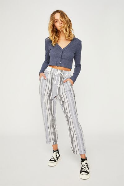 The Weekend Pant, HAYLEY WHITE STRIPE