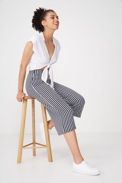 Marlee Luxe Culotte, LADDER STRIPE DEEPEST NAVY/GARDENIA