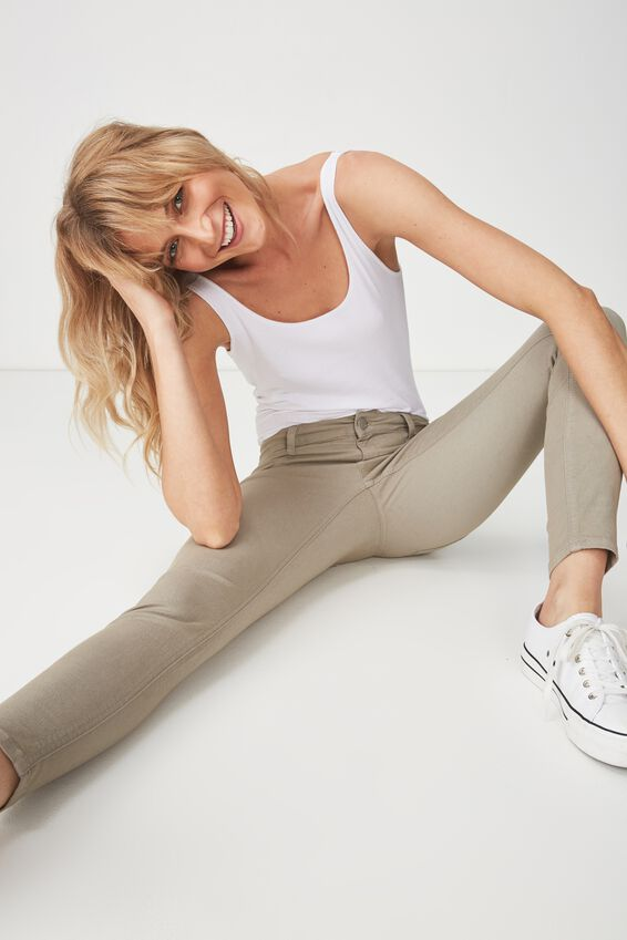 Mid Rise Jegging, LIGHT KHAKI