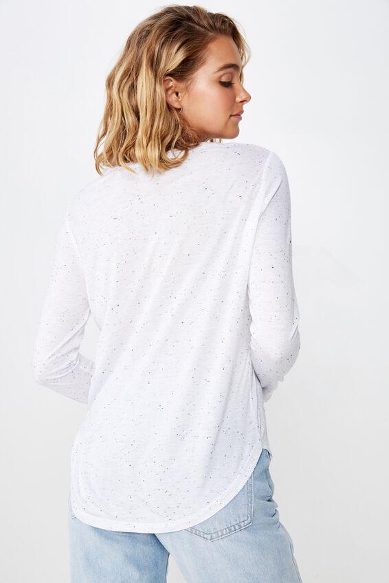 Kathleen Long Sleeve Top, NEP WHITE BODY/BLACK