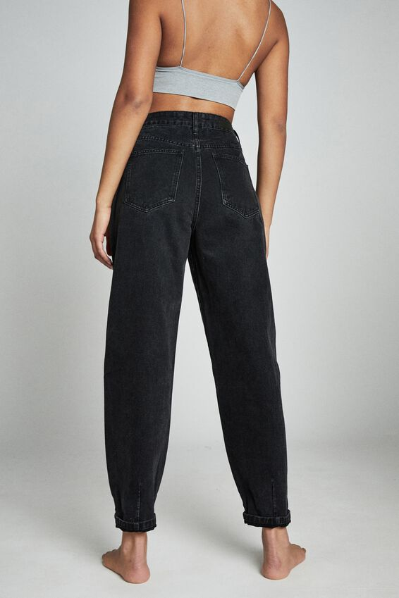 Slouch Mom Jean, MIDNIGHT BLACK