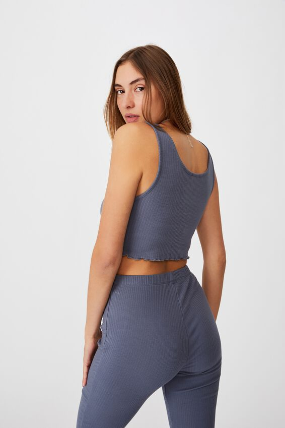 Bella Rib Tank, GRISAILLE