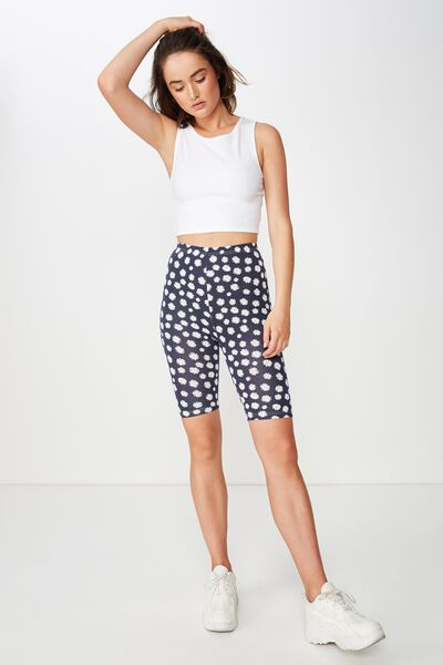 Bindi Bike Short, DAISY YARDAGE/MOONLIGHT