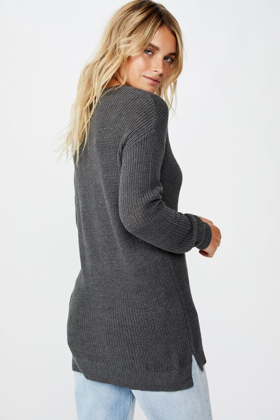 Archy 6 Pullover, CHARCOAL MARLE
