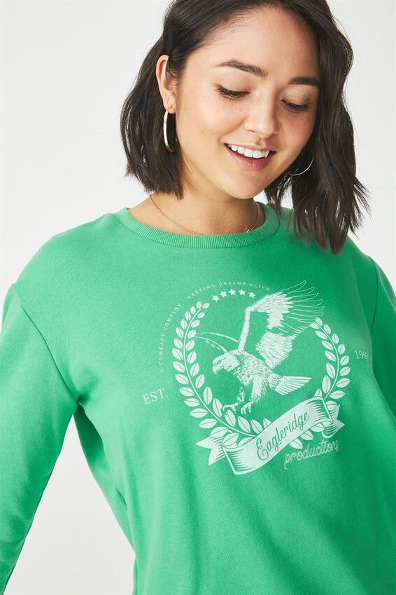 Ferguson Graphic Crew Sweater, EAGLERIDGE PRODUCTIONS/KELLY GREEN