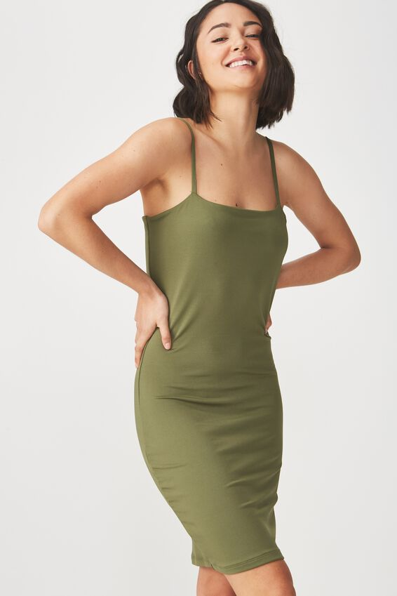 Freya Bodycon Dress, SOFT KHAKI