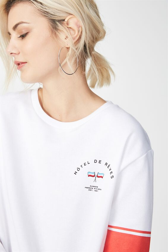 Ferguson Graphic Crew Sweater, HOTEL DE REVES/WHITE