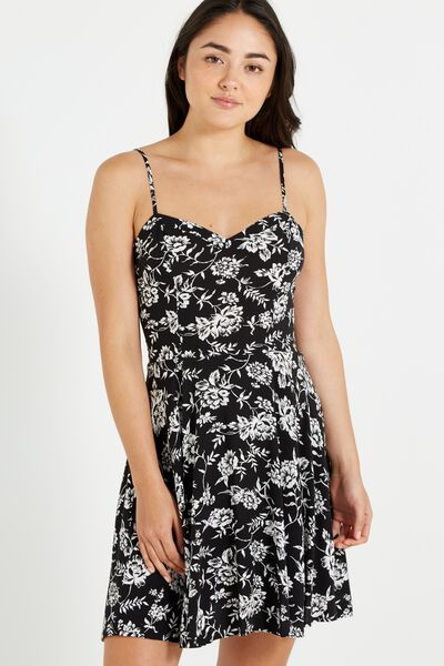 Woven Krissy Dress, CAMBRIDGE FLORAL MONO