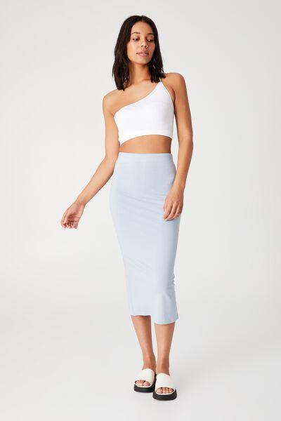 Essential Midi Skirt, NEW WAVE BLUE