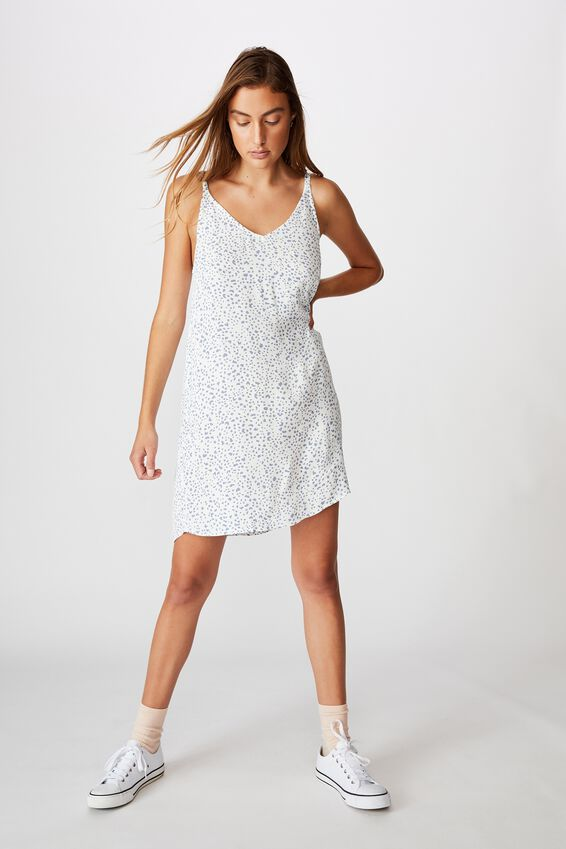 Woven Mary Strappy Mini Dress, PIPER ANIMAL INFINITY