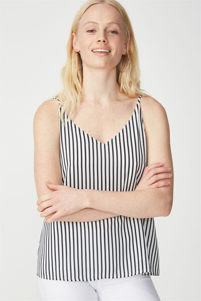 Astrid Cami, MILY VERTICAL STRIPE BRIGHT WHITE