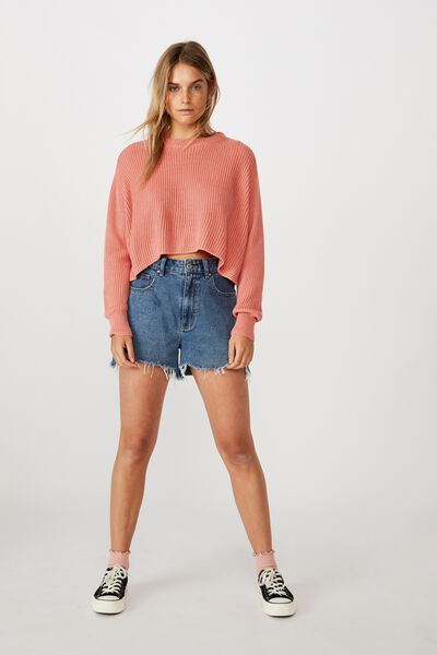 Archy Cropped 2 Pullover, CANYON CLAY