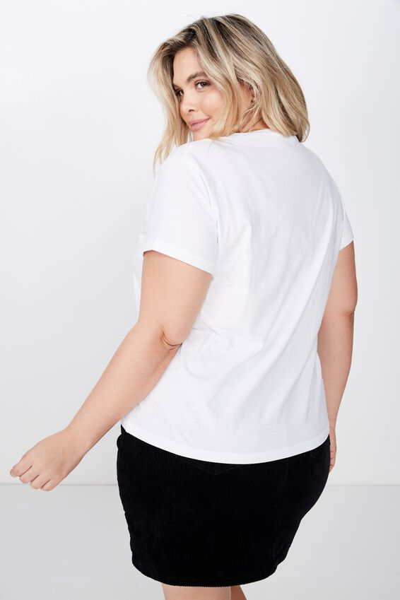 Curve Graphic Tee, LIKE NOBODY ELSE/WHITE